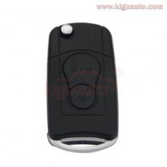 Refit flip remote key shell cover 2 button for Ssangyong Actyon Kyron Rexton