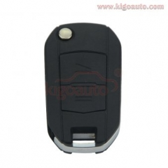 Flip key shell 2 button HU100 for Opel