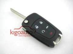 Flip key shell for Opel Insignia Astra 5 button
