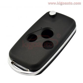 Refit flip remote key shell cover 3 button for Honda