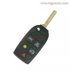 Refit remote key shell cover 5 button for Volvo S60 S70 S80 S90 V70 2001 2002 2003