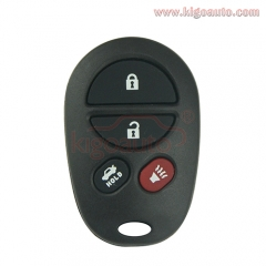 GQ43VT20T Remote fob 4 button 315Mhz for Toyota