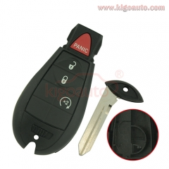 GQ4-53T fobik key shell 4 button for Dodge RAM 2013 2014 2015