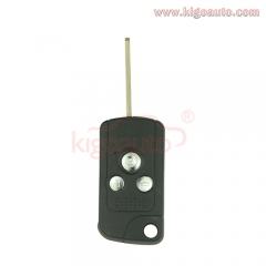 Refit flip remote car key shell 3 button for Honda