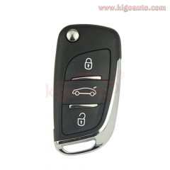 0536 new flip remote key 3 button 434Mhz FSK VA2 blade for Peugeot