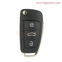 8P0 837 220 D remote key 3 button 434Mhz 8P0837220D  for Audi A3 TT 2007 2008 2009 2010 2011 2012
