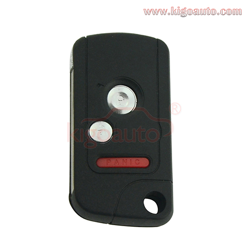Refit remote key shell 2 button with panic for Honda Odyssey Ridgeline Fit 2006 2007 2008 2009