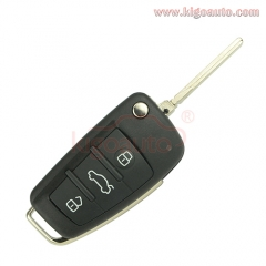 Flip key shell 3 button for Audi A4