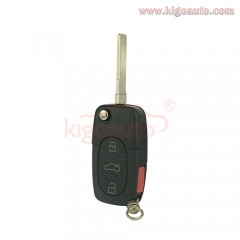 Remote key shell 3 button with panic for Audi A4 A6 A8 S4 TT flip Case