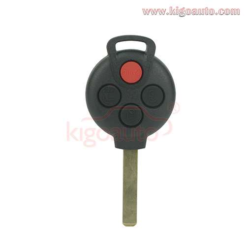 KR55WK45144 Remote key shell 4 button for Mercedes Smart Fortwo 2005-2014