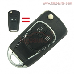 Refit key shell 2 button for Chevrolet Buick flip key case