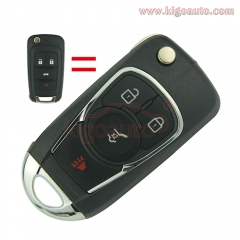 Refit key shell 3 button with panic for Chevrolet Buick flip key case