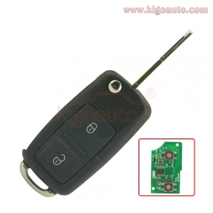 Flip key 2 button 433Mhz NE72 blade for Peugeot Citroen