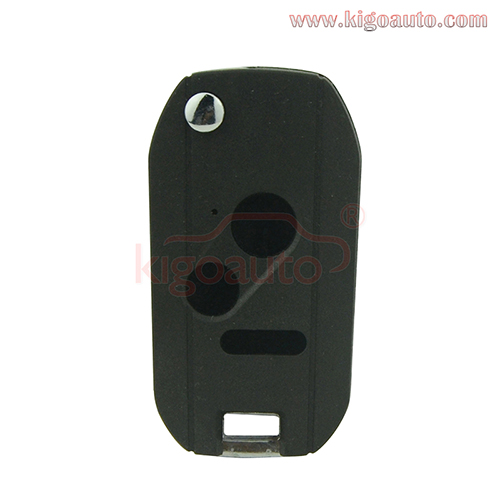 Refit flip remote car key shell 2 button with panic for Honda
