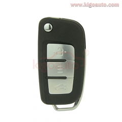 Filp key shell 3 button FO21 or HU101 blade for Ford