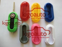 Plastic key cover colorful case shell for Fiat 500