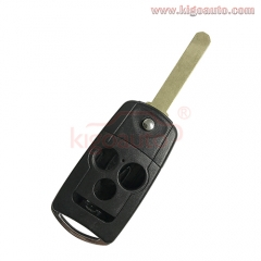 Flip key shell case 3 button for Acura TSX 2009 2010 2011