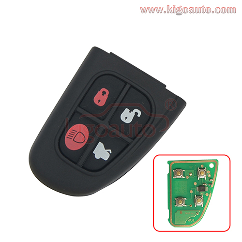Remote key fob 1X43-15K801-BD 4 button 315MHz NHVWB1U241 for Jaguar X S XJ XK 2002 2003 2004 2005 2006 2007 2008