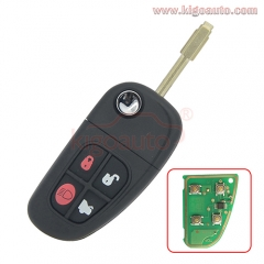 NHVWB1U241 flip key 4 button FO21 4D60 chip for Jaguar X S XJ XK TYPE