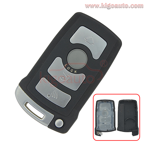 Smart key case 4 button for BMW 7 series 2002-2008