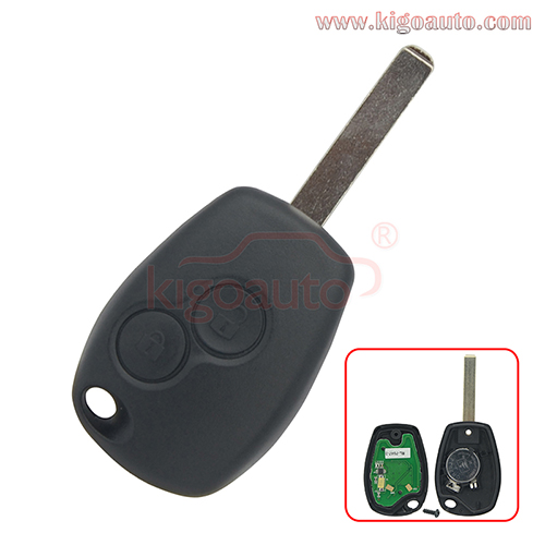 7701209235 / 998100571R Remote key 2 button 433mhz VA6 blade ID46 PCF7946/PCF7947 chip ASK for Renault Clio Modus Twingo Kangoo Master 2006-2012