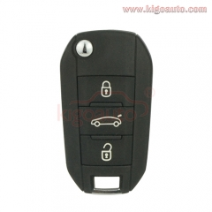 5FA010 OEM flip key remote 3 button 433Mhz PCF7941  ID46 chip for Citroen C4 Cactus Part numbers: 1612121480 / 1612121380