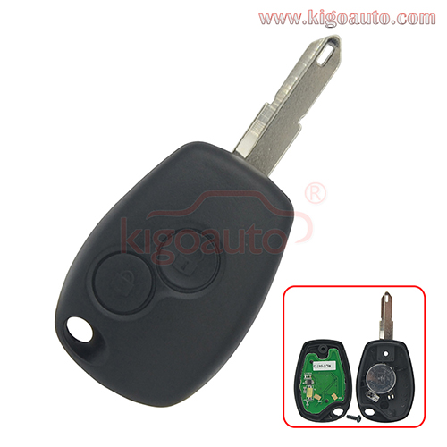 Remote key 2 button NE72 blade 434Mhz PCF7946/PCF7947 ASK for Renault Clio III Kangoo II Master Modus 2006-2010