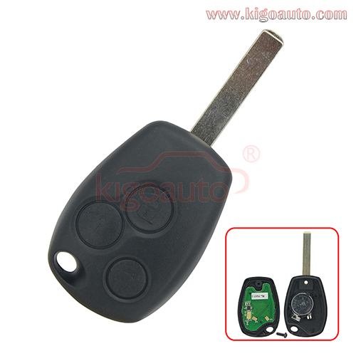 Remote key 3 button 434mhz VA6 blade PCF7947AT ASK for Renault Clio Kangoo Modus Master Twingo 2006-2012