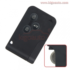 7701209132 smart key card 433Mhz ID46-PCF7947 3 button for Renault Megane II Megane 2 Scenic II Grand Scenic II 2003 2004 2005 2006 2007 2008 no logo
