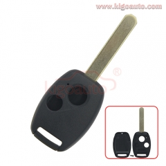 (No chip room)Remote key shell 2 button for Honda CRV Civic Accord