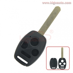 (with chip room) Remote key shell 3 button with panic for Honda Accord