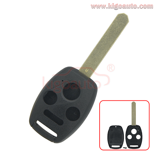 (No chip room)Remote key shell 3 button with panic for Honda Accord Civic CR-V Fit Pilot