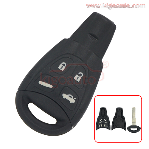 Smart key case 4 button for SAAB  93
