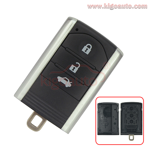 Smart Key Case Shell 3 Button For Honda Acura MDX RDX TL