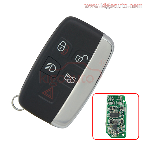 KOBJTF10A smart key 5 button 434Mhz for Jaguar XJ XK XF XE F 2012-2015  5E0B40217