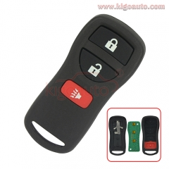 KBRASTU15 Remote fob 3 button 315Mhz for Nissan