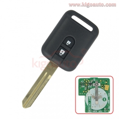 Remote key 2 button 315Mhz for Nissan Micra Navara Almera Qashqai Patrol X-trail