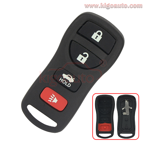 FCC ID KBRASTU15 Remote fob case 4 button for Nissan Quest Armada Infiniti FX35 FX45 G35 Q45 2002-2010