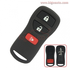 FCC ID KBRASTU15 Remote fob case 3 button for Nissan Xterra Pathfinder Frontier 2002 2003 2004