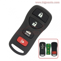 KBRASTU15 Remote fob 4 button 315Mhz for Nissan Xterra Pathfinder Frontier
