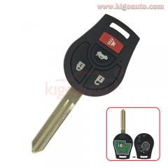 Remote key 4 button 315Mhz CWTWB1U751 with 46 chip for Nissan Sentra 370Z Cube