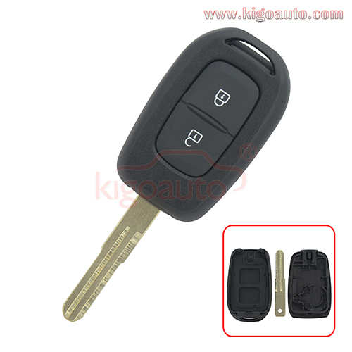 2 Button Remote Key shell For 2016 2017 Renault Duster Sandero Kwid