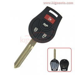 Remote key shell 3 button with panic for Nissan VERSA CUBE JUKE ROGUE SENTRA
