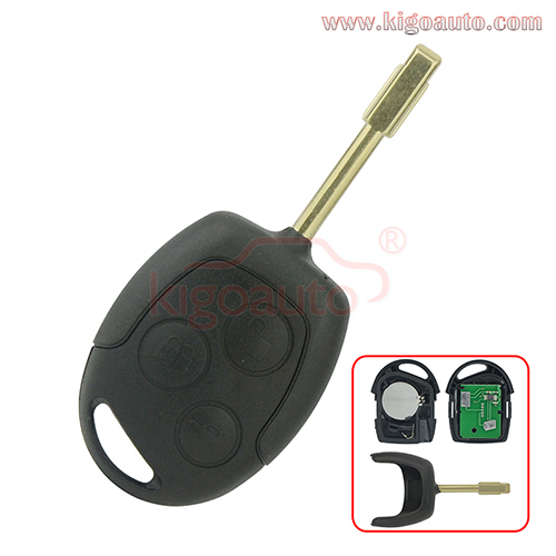 Remote Key ID60 chip 3 Button 434Mhz for Ford Focus Mondeo Fiesta C-max