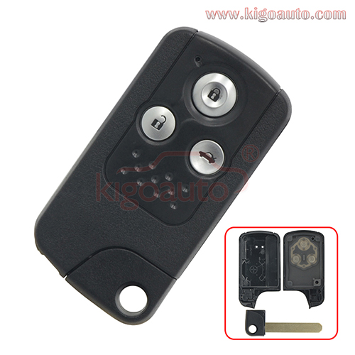 Smart key case shell 3 button for Honda CRV Fit 2009 2010 2011