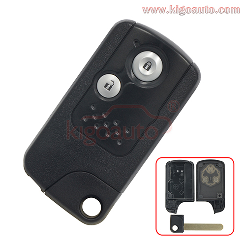 Smart key case shell 2 button for Honda Fit CRV 2009 2010 2011