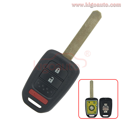 P/N 35118-TY4-A20 Remote key 2 button with panic 313.8mhz for Honda Accord Civic CRV 2013 2014 2015 FCC MLBHLIK6-1T