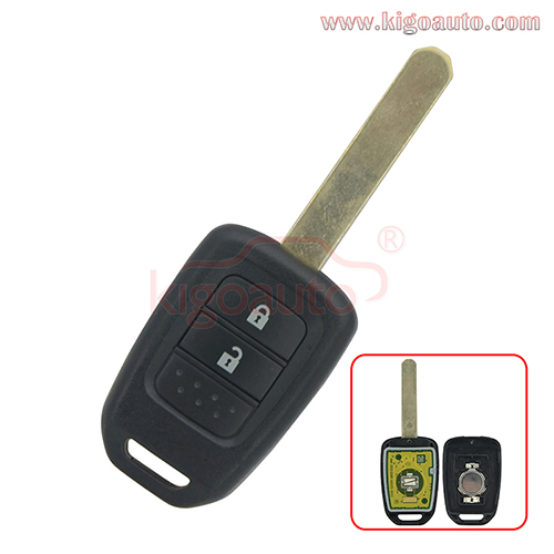 Remote key 2 button 313.8Mhz for Honda Jazz 2015