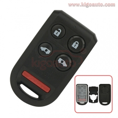 Remote fob shell case 4 button with panic for Honda Odyssey 2005 - 2010