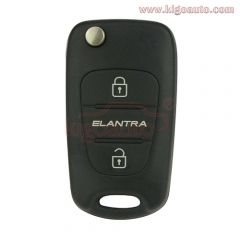 Flip remote key 3 button 434Mhz for Hyundai Elantra